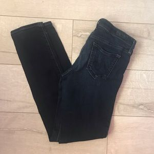 AG supper Skinny jeans wash dark blue Sz 28